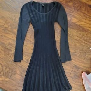 Style & Co Dresses - Black and grey sweater dress